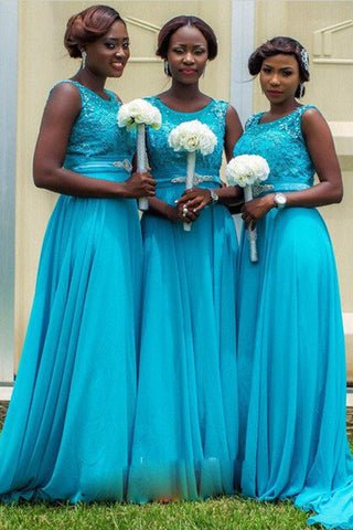 Blue long bridesmaid dress,elegant bridesmaid dress,new aarival bridesmaid dresses,SVD471