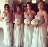 Gray Long Bridesmaid Dress,Lace Mismatched Bridesmaid Dress,Cheap Bridesmaid Dress,SVD481