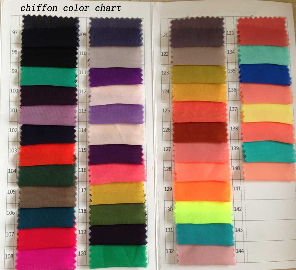 Chiffon Color Swatch of simidress.com