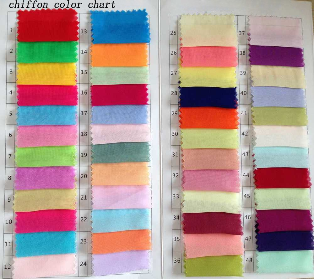 Chiffon Color Swatch of Wedding Dress from simidress.com