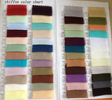 Chiffon color swatch for dresses in simidress.com