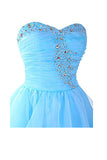Blue Homecoming Dress,Sweetheart Organza Homecoming Dresses Prom Dresses,SVD580