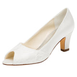 Fashion Women's Satin Stiletto Heel Peep Toe Platform Sandals,Wedding Shoes,L-586