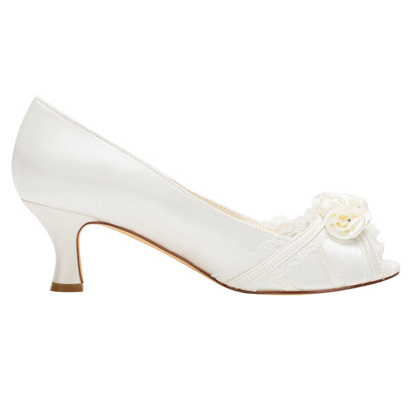 Wedding Dresses,Cheap Woman Shoes,Satin Stiletto Heel Peep Toe Pumps,L-592