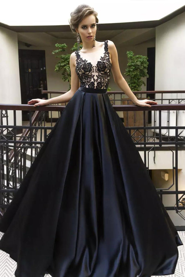 Black Prom Dress 2018 Evening Gown Party Dress Prom