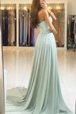 Cheap Strapless Long Prom Dresses with Sweetheart Neck, Bridesmaid Dresses, M150