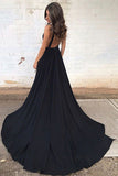 Black Prom Dresses,Sweep Train Prom Dress,Sexy Prom Dress,Evening Gowns,M79
