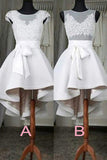 Lace High Low homecoming prom dresses,New Design Sexy See through Short Prom Dresses,MH58