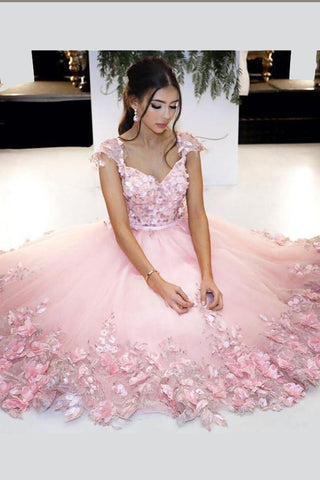 4852d5a4b3a Princess V Neck Short Prom Dress