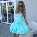 Pink Sweetheart Short Prom Dress,Sleeveless Ruffles Cheap Homecoming Dress,Party Dress SH190