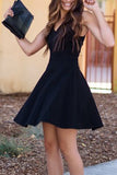 Black A-line Homecoming Dress,  Sweet 16 Dress, Short Prom Dress, SH219