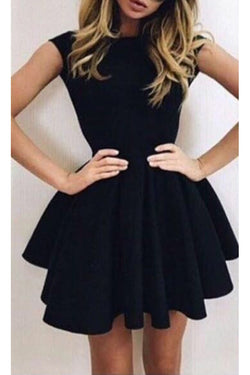 Sexy Black Open Back Homecoming Dress,Short Prom Dresses,SH257