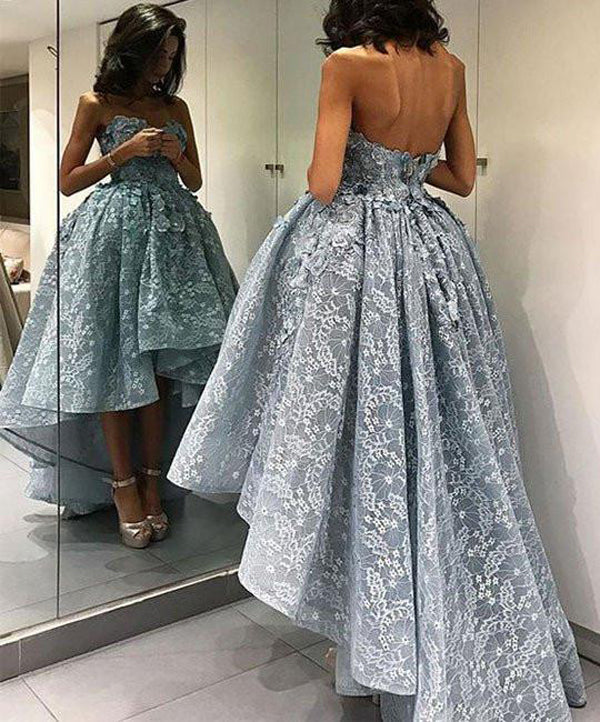 Ball Gown Lace Short Prom Dress, Homecoming Dress, Party Dress, SH279