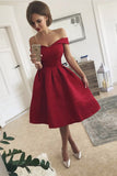 Simple Off the Shoulder Homecoming Dress, Graduation Dresses, Sweet 16 Dress, SH293