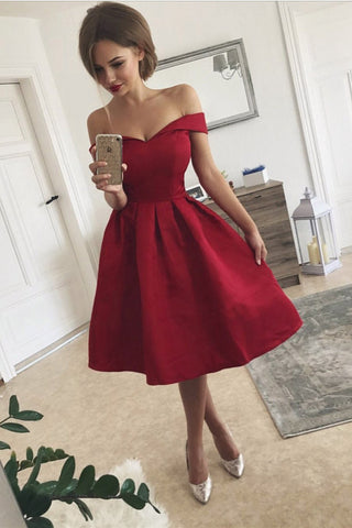 46a751b563b Simple Off the Shoulder Homecoming Dress