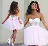 Sparkly Sweetheart Cute Casual Graduation Dress Homecoming Dresses from simidress.com