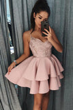 Shinny Mini Spaghetti Strap Homecoming Dresses Chic Summer Hoco Short Prom Dress, SH354