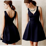 Unique Cocktail Dress V Neck Zipper Homecoming Dress Short Party Dresses, SH384 at simidress.com