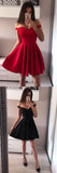 Red Sleeveless Simple A-line Off-shoulder Short Prom Dress, Homecoming Dresses from Simidress