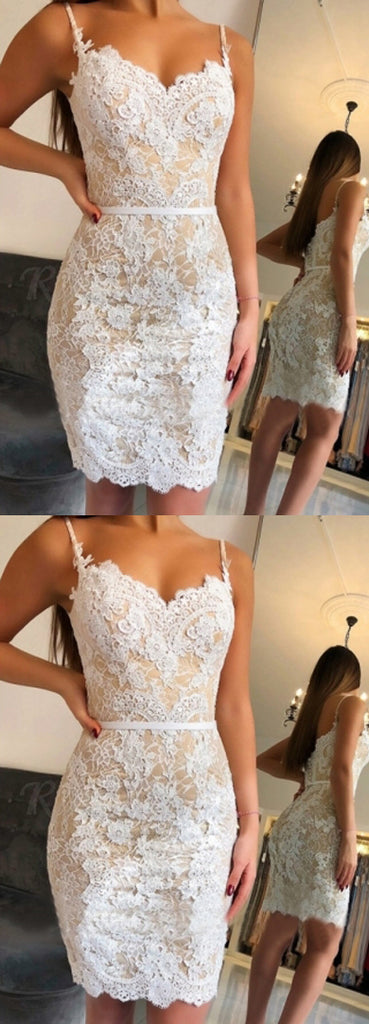 New Arrival Sweetheart Mermaid Lace Homecoming Dresses Short Party Dress, SH420|simidress.com