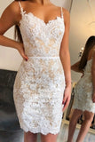 New Arrival Sweetheart Mermaid Lace Homecoming Dresses Short Party Dress, SH420