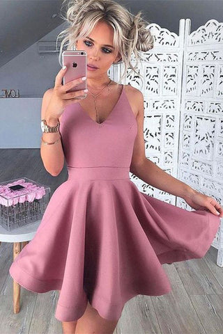 Satin Homecoming Dresses,Homecoming Gowns,Short Homecoming Dresses, SH48