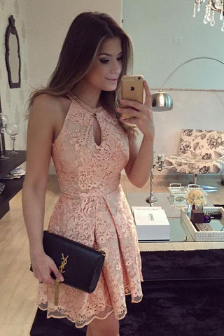 Luxury Short Prom Dress,Retro Tulle Lace Homecoming Dresses,SH55