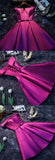 Purple Cheap Short Prom Dresses for Girls,Simple Satin Homecoming Dress, SH85