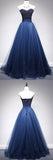 Buy Gorgeous Tulle A Line Beaded Sweetheart Long Prom Dresses Formal Dress, SP343 from simidress.com