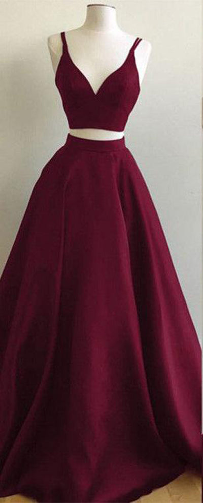 Burgundy prom dress offered by simidress.com