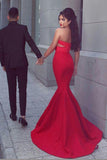 Simidress.com offer Unique Sleeveless Red Mermaid Two Piece Sweetheart Neck Prom Dresses, SP392