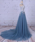 Simidress.com offer Charming A-line Scoop Tulle Long Prom Dress/Evening Dress with Flowers, SP395