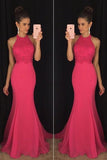 Evening Prom Dresses, Pink Mermaid Long Party Prom Dress,Formal Prom Dresses,SVD352