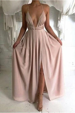 Long Backless Sleeveless Prom Dresses,Simple Prom Dresses,Cheap Prom Dresses,SVD360