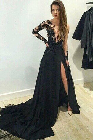 long sleeve prom dresses