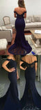 Popular Off Shoulder Mermaid Prom Dresses,Newest Bridesmaid Dresses,Cocktail Prom Dresses,SVD380