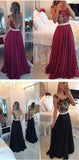 Red Chiffon Prom Dresses,Sexy Prom Dresses,Fashion Prom Dresses,Party Prom Dress,SVD387