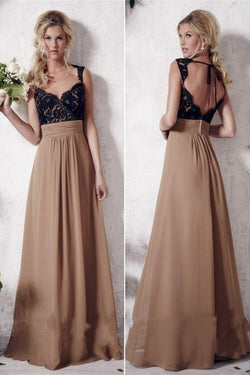 A-line Lace Prom Dresses,Wedding Party Dresses,Long Bridesmaid Dresses,Bridal Gowns,SVD398