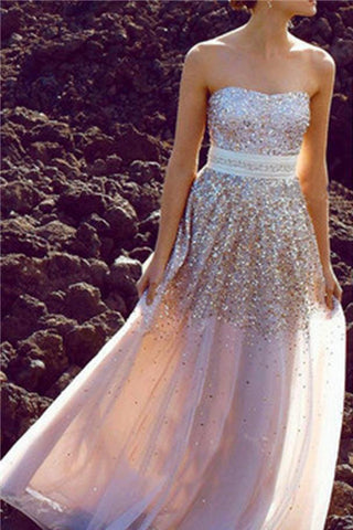 Glittering Strapless Prom Dresses,Shiny Prom Dresses,Party Dresses,Cocktail Prom Dresses,SVD400