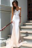 Blush Pink Mermaid Prom Dress,Charming Sweetheart Prom Dresses with Sweep Train,SVD421