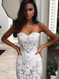 simidress.com offer Gorgeous Mermaid Formal Off Shoulder Sweetheart Wedding Dress, SW121