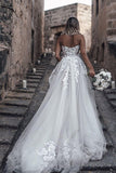 www.simidress.com supply Beautiful A-line See Through Sweetheart Sweep Train Long Wedding Dresses, SW328 at good price