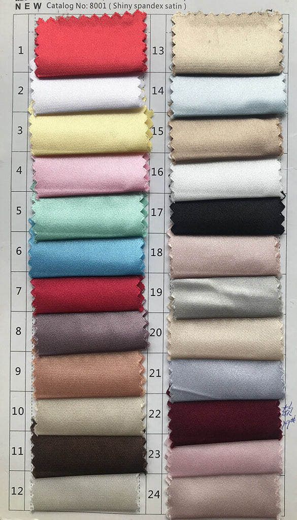 Shiny spandex satin color swatches 1 for prom dresses, evening dresses, party dresses, wedding dresses | www.simidress.com