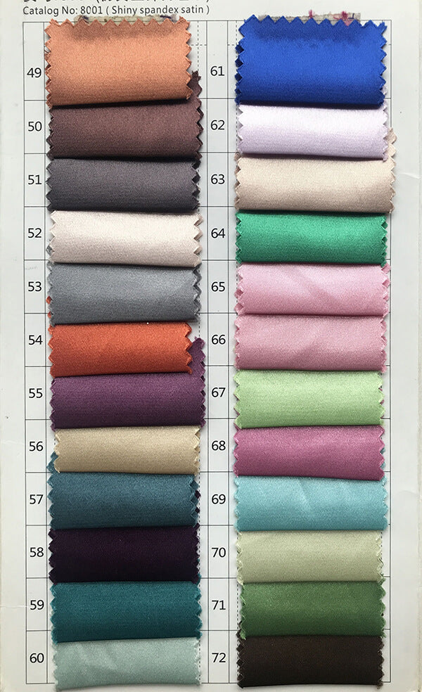 Shiny spandex satin color swatches 3 for prom dresses, evening dresses, party dresses, wedding dresses | www.simidress.com