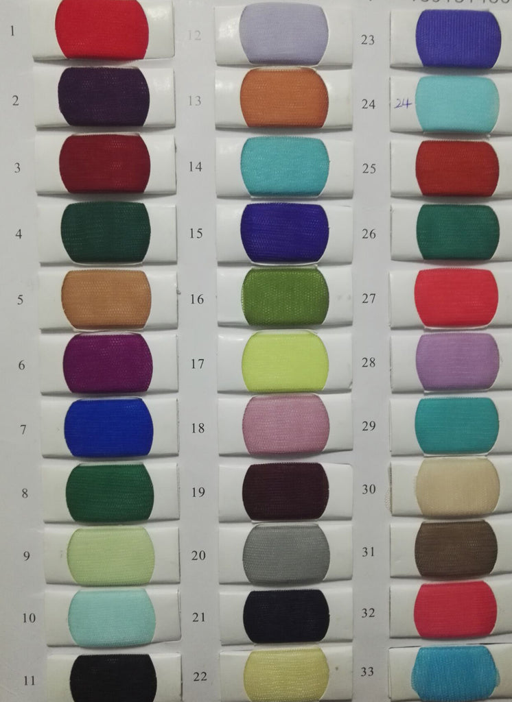 Tulle Color Chart of simidress.com