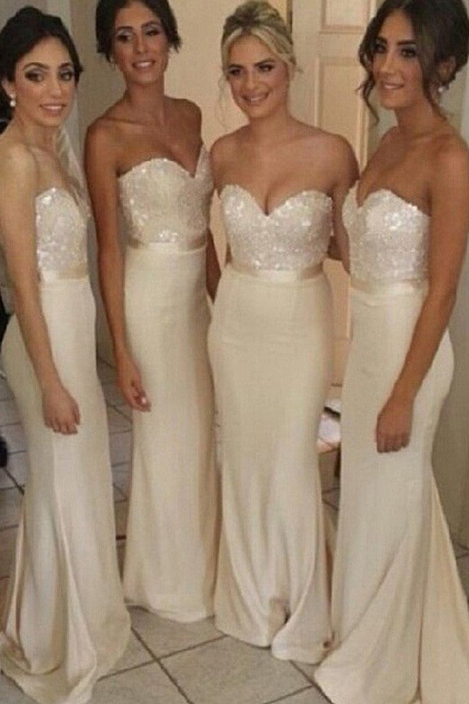 Elegant Mermaid Wedding Party Dress,Sweet Heart Sexy Long Pretty Bridesmaid Dresses,SVD492