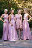 Fashion Pleating Convertible Floor-Length Modern Wedding Bridesmaid Dresses,SVD493
