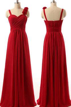 Chiffon Bridesmaid Dress,Long Bridesmaid Dress,Burgundy Bridesmaid Dress,SVD601