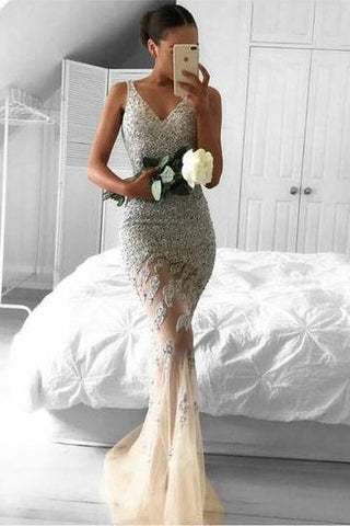 Long Mermaid Evening Prom Dresses,Custom Cheap Lace Party Dress,Formal Prom Dress