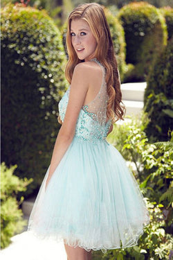 Elegant Light Blue Short Prom Dress,Homecoming Dress,Party Dress For Girls,SVD597